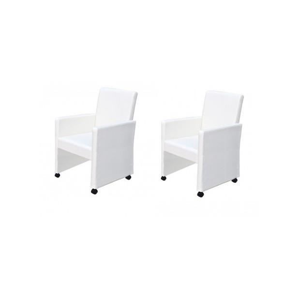 Les concepteurs artistiques achat fauteuil bureau cuir blanc for Bureau 3 places