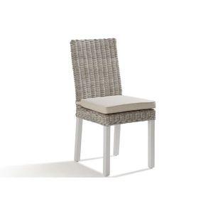 Chaises en rotin blanc achat vente chaises en rotin for Chaise rotin tresse