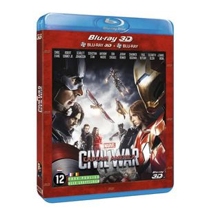 BLU-RAY FILM Blu-Ray 3D Captain America CIVIL WAR