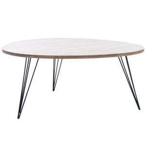 Table basse industriel achat vente table basse for Table basse chene metal