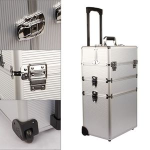 VALISE - BAGAGE SUNGLE Malette Maquillage argent 3-in-1 beauty cas