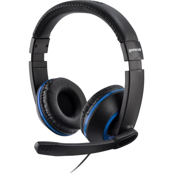 casque gaming st r o xh100 bleu pour ps4 xbox one et pc mac achat vente casque micro. Black Bedroom Furniture Sets. Home Design Ideas