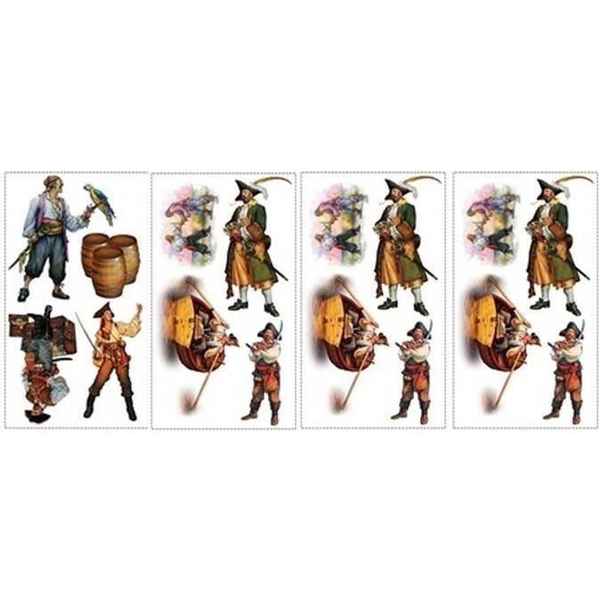 Stickers muraux adhesifs decoration les pirates achat - Decoration stickers muraux adhesif ...