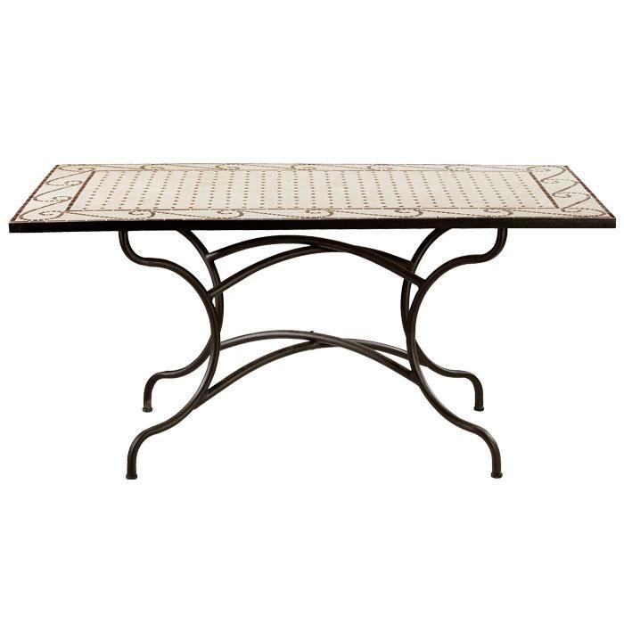 beautiful table de jardin mosaique rectangulaire photos awesome interior home satellite. Black Bedroom Furniture Sets. Home Design Ideas