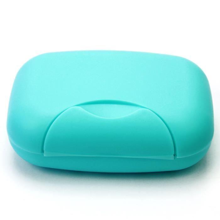 porte bo te savon voyage portable salle de bain en plastique soap box bleu achat vente. Black Bedroom Furniture Sets. Home Design Ideas