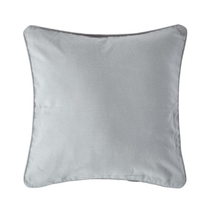 Coussin d houssable gris 45 x 45 cm achat vente housse for Housse de coussin gris