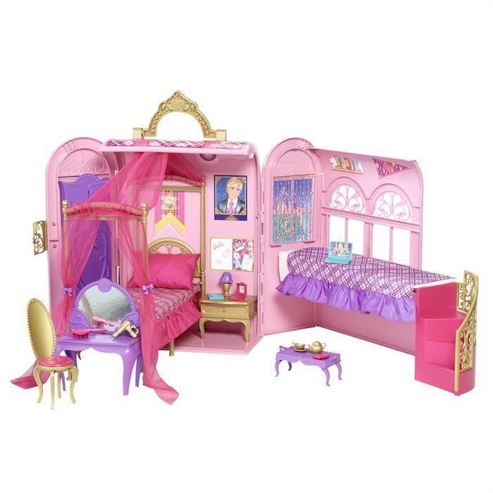 Barbie Chambre Magique Pliable Et Transportable Achat