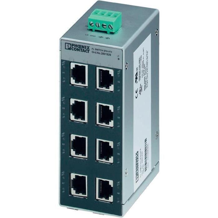 switch ethernet 8 ports tp-rj45 phoenix contact u2026