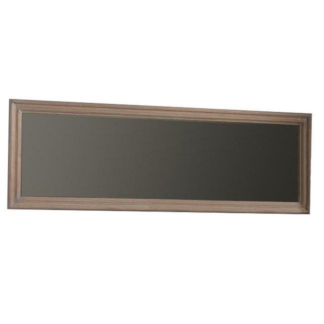 Miroir cadre en mindi coloris beige gris 180x60 achat for Miroir 60 cm de large