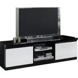Meuble tv bois achat vente meuble tv bois pas cher - Meuble tv blanc et noir ...