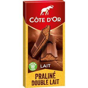 CHOCOLAT LAIT Côte d'or tablette de chocolat praliné fondant 200