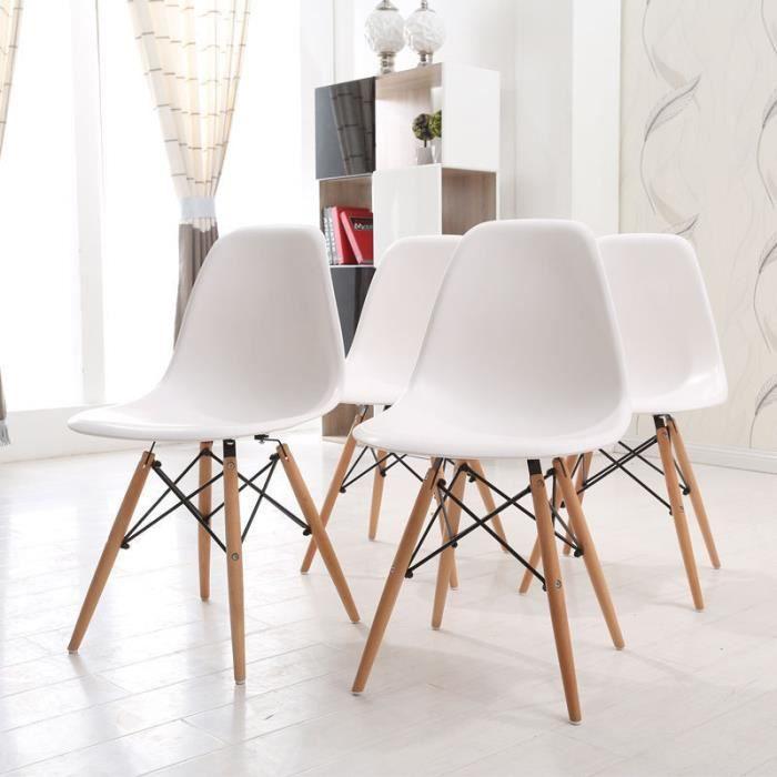 Cuisine blanche en bois deco design moderne cuisine for Deco cuisine avec chaise blanche pied en bois