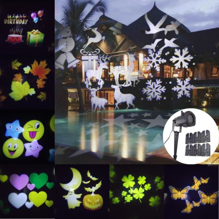 gaxmi f e led lumi res t l commande 12 en 1 no l de plein air d corations imperm able clairage. Black Bedroom Furniture Sets. Home Design Ideas