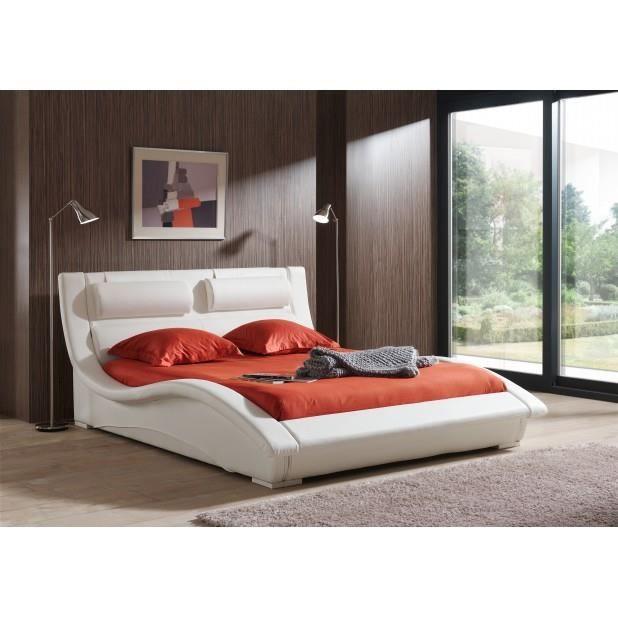 structure de lit blanc 160 achat vente structure de. Black Bedroom Furniture Sets. Home Design Ideas