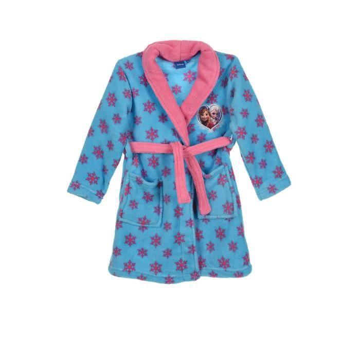 robe de chambre la reine des neiges flocons 5 ans turquoise achat vente chemise de nuit. Black Bedroom Furniture Sets. Home Design Ideas