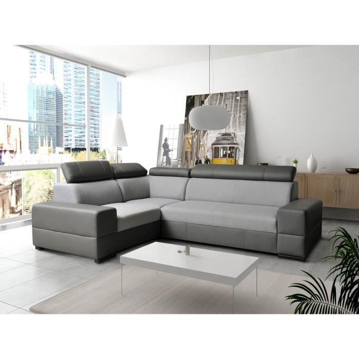 canap d 39 angle convertible capre avec teti res r glables. Black Bedroom Furniture Sets. Home Design Ideas