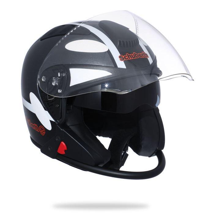 schuberth casque jet j1 d co noir achat vente casque moto scooter schuberth casque jet j1. Black Bedroom Furniture Sets. Home Design Ideas