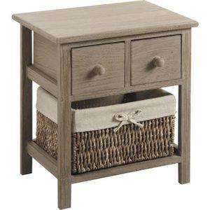 chevet table de nuit 3 tiroirs paniers achat vente chevet chevet table de nuit 3 tiro. Black Bedroom Furniture Sets. Home Design Ideas