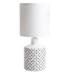 LAMPE A POSER Lampe de chevet GISELE céramique motif rond noir 2