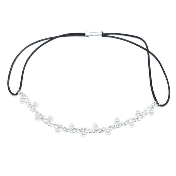 bijoux de front mariage ceremonie perles strass achat vente bandeau serre t te bijoux de. Black Bedroom Furniture Sets. Home Design Ideas