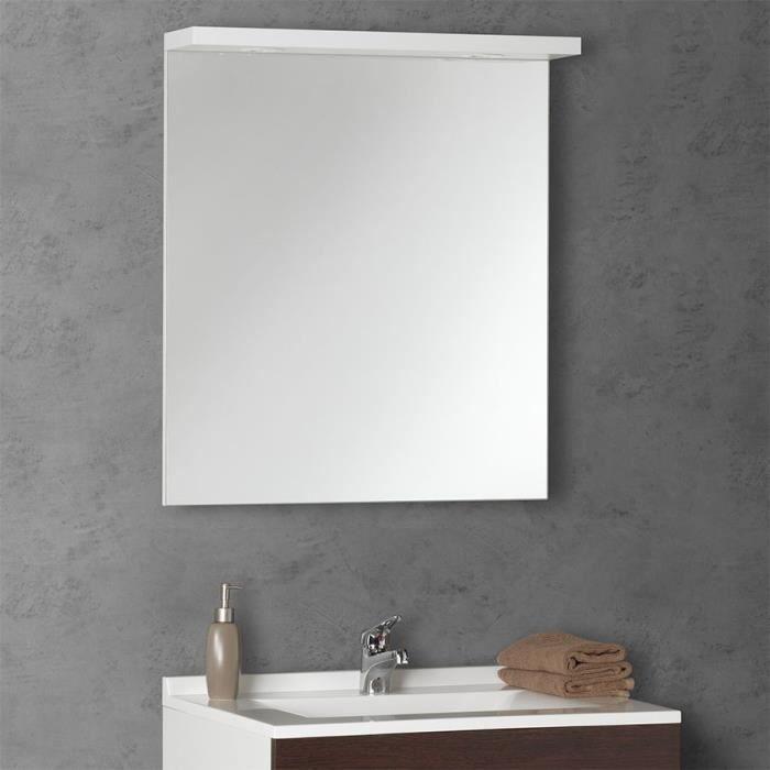 miroir avec bandeau 2 spots senetosa 2 largeurs achat. Black Bedroom Furniture Sets. Home Design Ideas