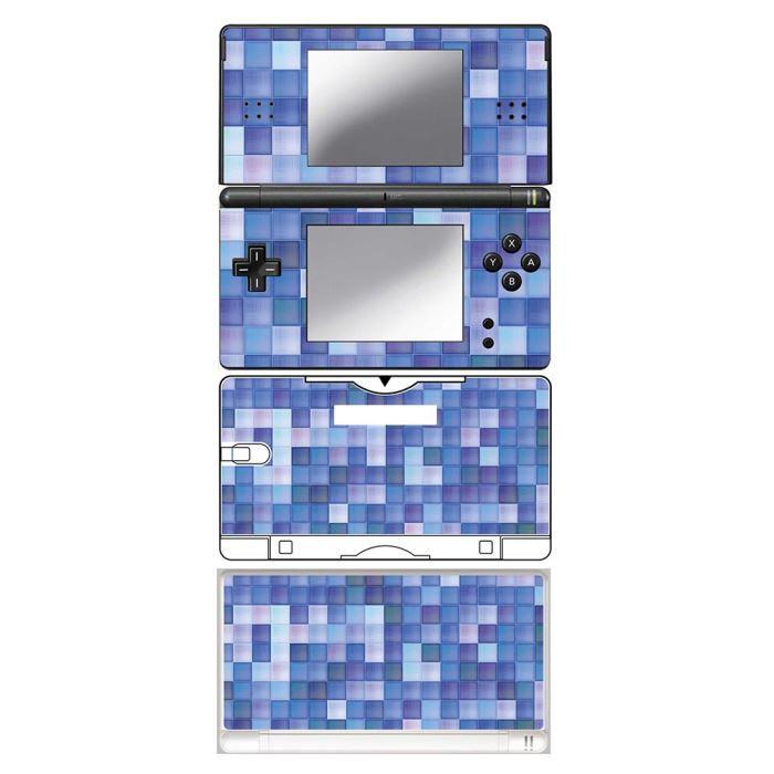 skin stickers pour nintendo ds lite sticker blue plaid achat vente protection ecran jeux. Black Bedroom Furniture Sets. Home Design Ideas