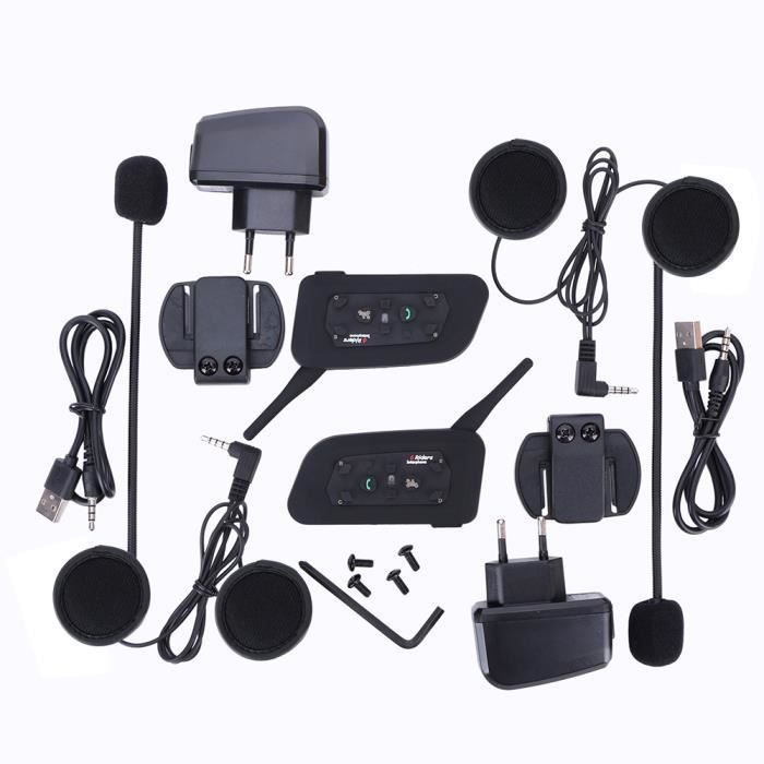 1 paire interphone audio st r o bluetooth 3 0 sans fil. Black Bedroom Furniture Sets. Home Design Ideas