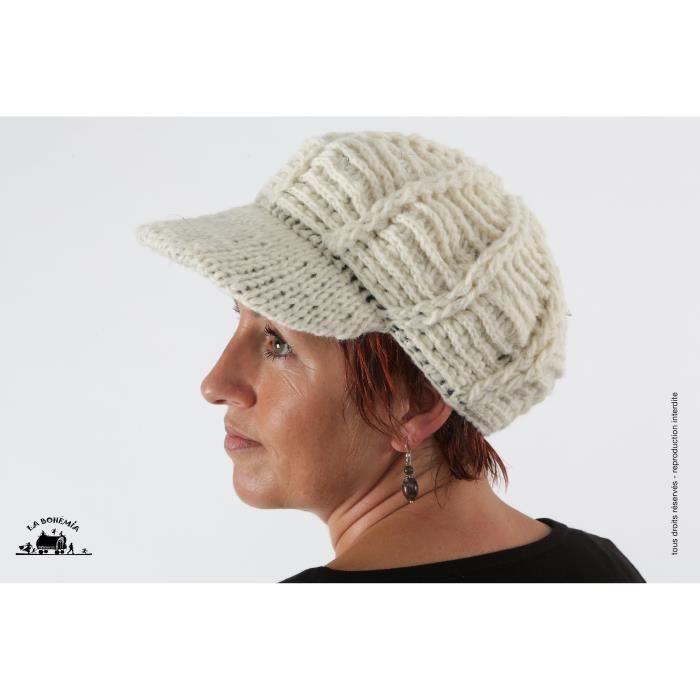 casquette en laine la boh mia casqu01 achat vente chapeau bob 3700954623825 cdiscount. Black Bedroom Furniture Sets. Home Design Ideas