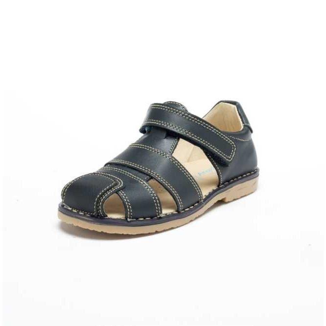 sandales en cuir bebe lets grow bleu marine achat vente sandale nu pieds sandales en cuir. Black Bedroom Furniture Sets. Home Design Ideas