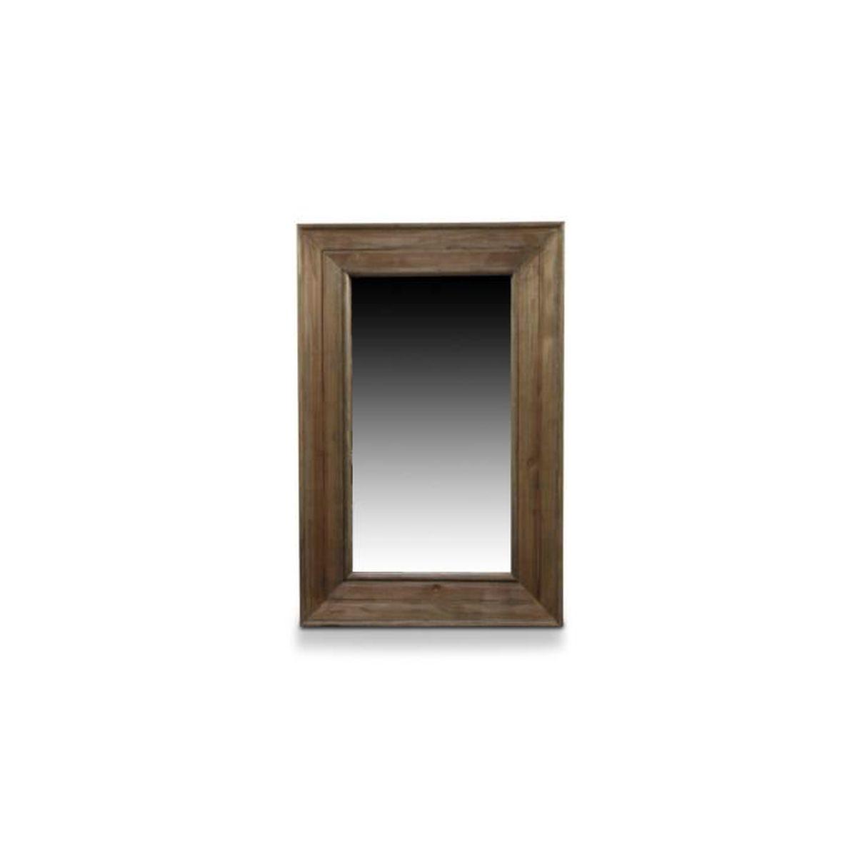 Miroir ancien rectangulaire vertical bois for Miroir vertical