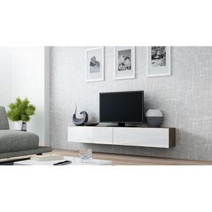 meuble tv design suspendu vito 180cm taupe et blanc achat vente meuble tv meuble tv design. Black Bedroom Furniture Sets. Home Design Ideas