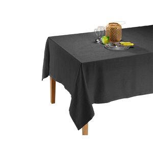 NAPPE DE TABLE Nappe Satine Anthracite 150 x 200 cm