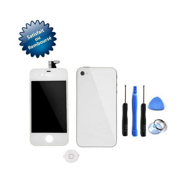 vitre tactile pour apple iphone 4 4s cran lc achat. Black Bedroom Furniture Sets. Home Design Ideas