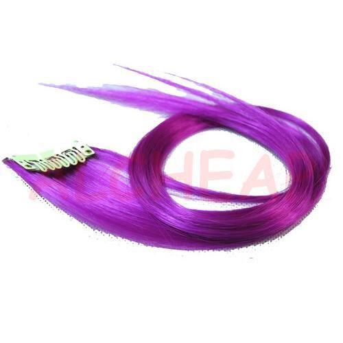 coloration extension de cheveux clips mauve - Coloration Mauve
