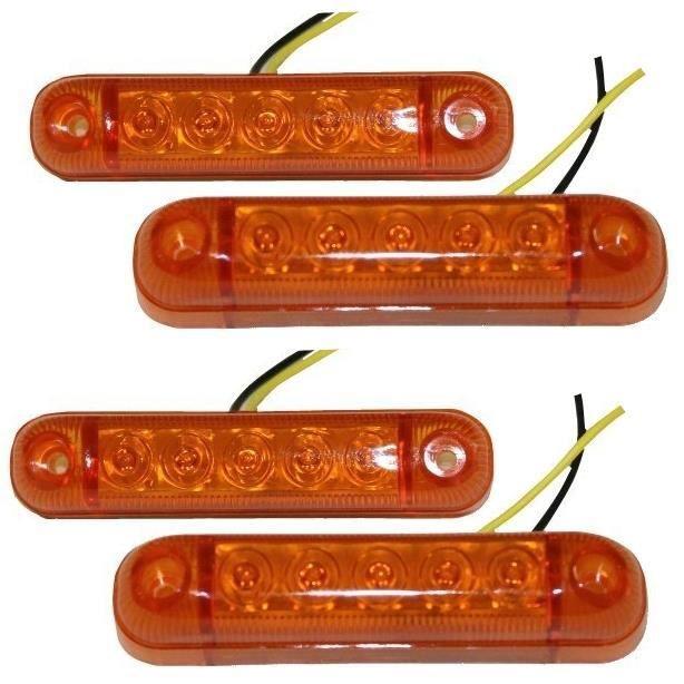 4 feux gabarit position lumi re orange 24v 5 led achat. Black Bedroom Furniture Sets. Home Design Ideas