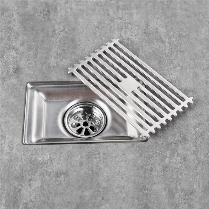 caniveau de douche 90x150mm siphon de sol drainer l 39 eau. Black Bedroom Furniture Sets. Home Design Ideas