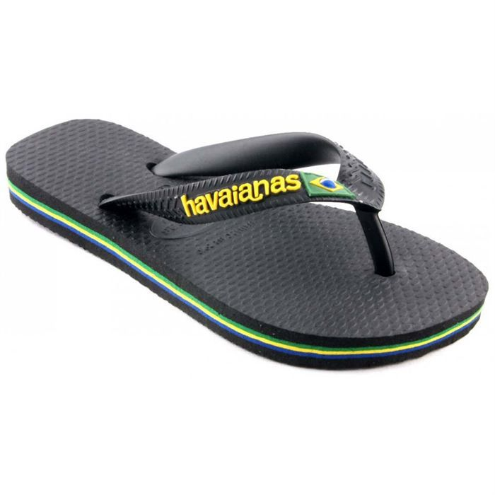 tongs havaianas brasil logo noir noir achat vente tong cdiscount. Black Bedroom Furniture Sets. Home Design Ideas