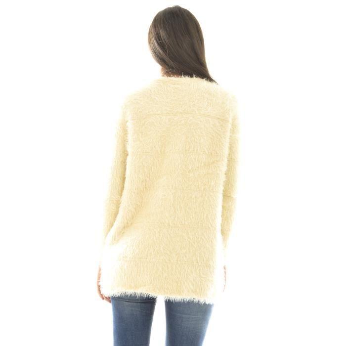 gilet long en laine doux beige achat vente gilet cardigan soldes cdiscount. Black Bedroom Furniture Sets. Home Design Ideas