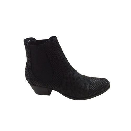 boots petit talon noir belem reqins noir achat vente. Black Bedroom Furniture Sets. Home Design Ideas