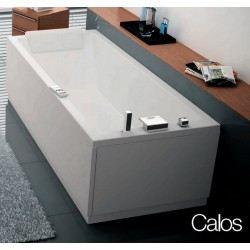 baignoire calos rectangulaire acrylique 160x70 achat vente baignoire kit balneo baignoire. Black Bedroom Furniture Sets. Home Design Ideas