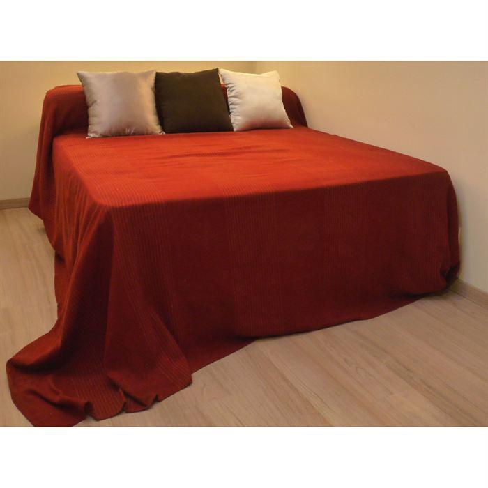 couvre lit tiss main regency rouge achat vente jet e de lit boutis cdiscount. Black Bedroom Furniture Sets. Home Design Ideas
