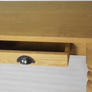 Meuble table de ferme 180x90 en pin massif ciré…