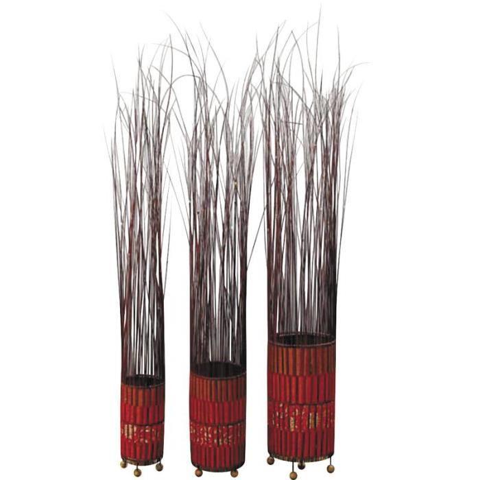 lampes a poser en bambou serie de 3 achat vente lampes a poser en bambou se cdiscount. Black Bedroom Furniture Sets. Home Design Ideas