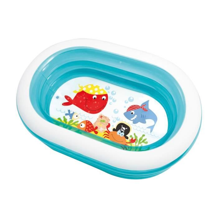 Piscine ovale whale fun 18069a achat vente pataugeoire for Piscine gonflable ovale