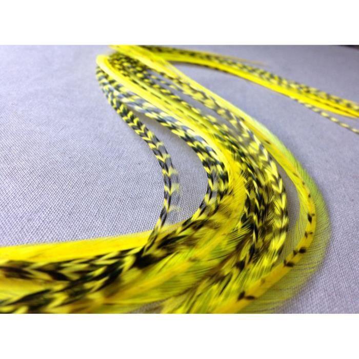 Extension de plume pour cheveux 30 40cm une jaune 1 passe m che offert par commande achat - Plume dans les cheveux ...