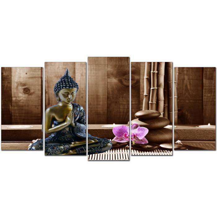 toile tableau cadre design moderne zen bouddha 155 200x100 achat vente tableau toile. Black Bedroom Furniture Sets. Home Design Ideas