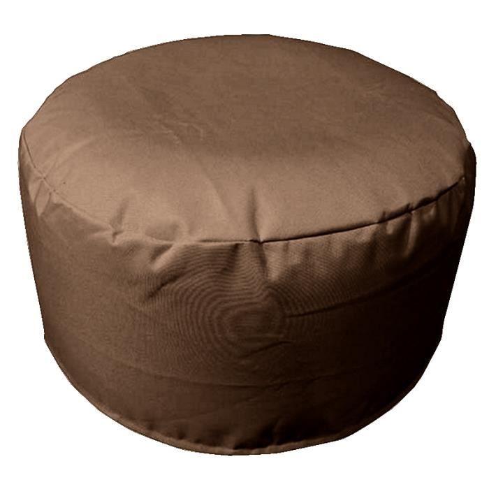 pouf gonflable 55cm sp cial ext rieur chocolat anti taches imperm able achat vente. Black Bedroom Furniture Sets. Home Design Ideas