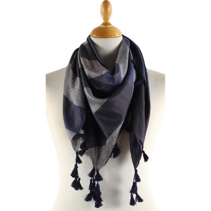 foulard femme bleu marine. Black Bedroom Furniture Sets. Home Design Ideas