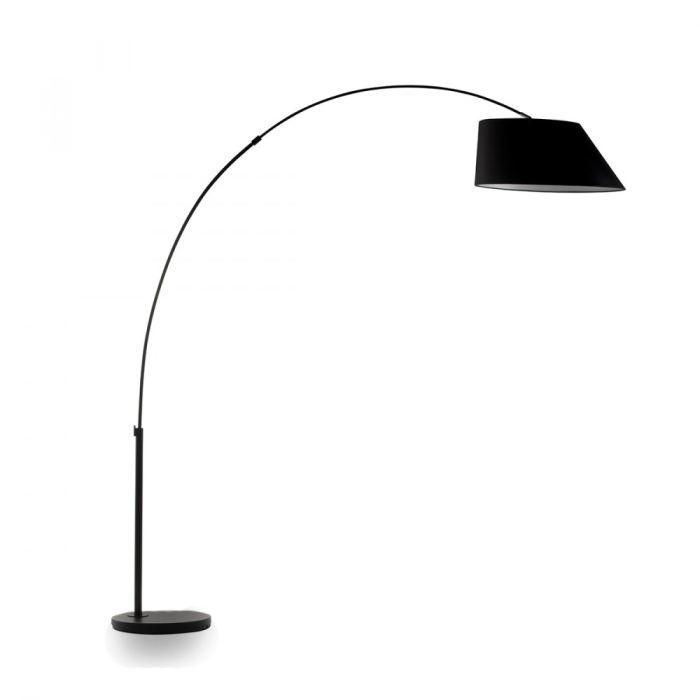 lampadaire arc couleur noir achat vente lampadaire arc couleur noir acier polyester cdiscount. Black Bedroom Furniture Sets. Home Design Ideas
