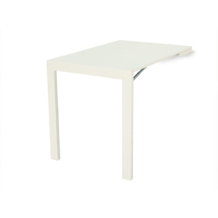 Table picture escamotable blanche achat vente table a for Meuble table escamotable